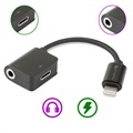 4smarts SoundSplit Lightning / 3.5mm Audio Adapter - Black