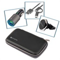 4smarts Travel Car Set - Car Charger, Car Holder, ComboCord Cable