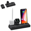 Supporto da Ricarica 3 in 1 HJZJ001 per iPhone, Apple Watch, AirPods - Nero