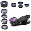 Apexel 10-in-1 Universal Clip-On Camera Lens Kit - Black