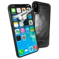 Custodia in Pelle Magnetica Alston Craig per iPhone X / iPhone XS - Nera