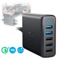 Anker PowerPort Speed 5 Fast Wall Charger - 2 x USB QC 3.0, 3 x USB - 63W