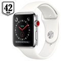Apple Watch Series 3 LTE MQLY2ZD/A - Acciaio Inossidabile, Cinturino Sport, 42mm, 16GB