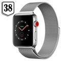 Apple Watch Series 3 LTE MR1N2ZD/A - Acciaio Inossidabile, Loop Milanese, 38mm, 16GB - Seashell/Argento