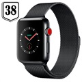 Apple Watch Series 3 LTE MR1Q2ZD/A - Acciaio Inossidabile, Loop Milanese, 38mm, 16GB - Grigio Siderale/Verde Olivo