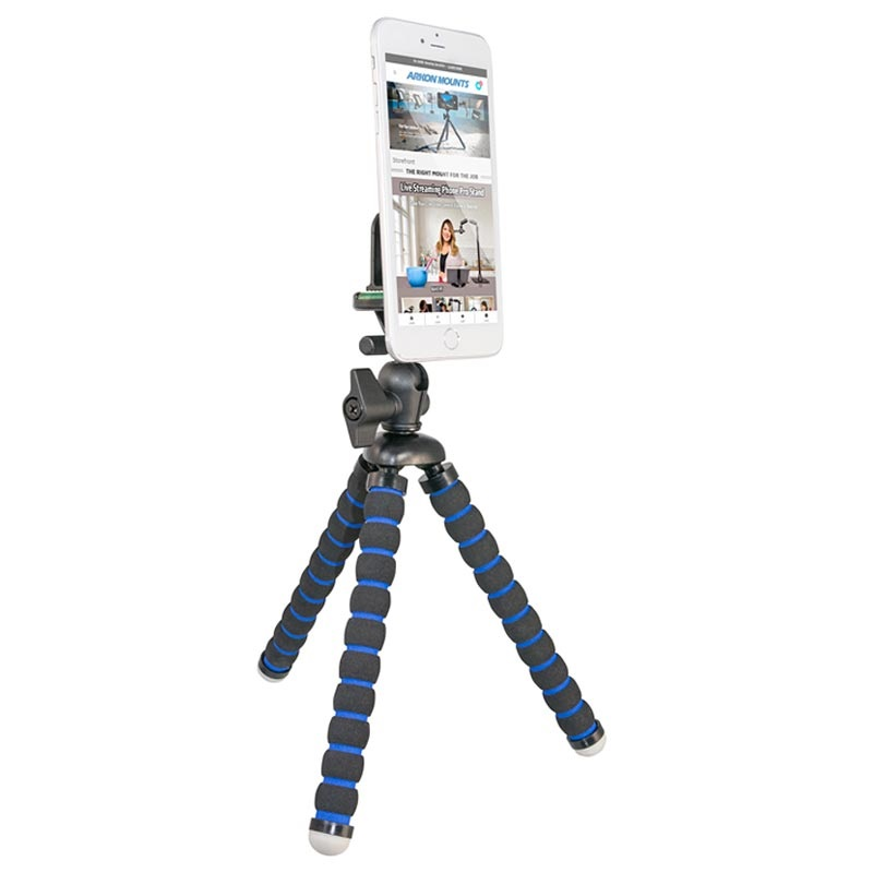 Arkon FRTRIXL Flexible Tripod Stand with Finger Ring Holder