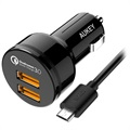 Caricatore da Auto Aukey CC-T8 Qualcomm Quick Charge 3.0 - Due porte USB