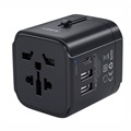 Aukey PA-TA01 Universal USB Travel Adapter - 2.4A, 3.0A - Black