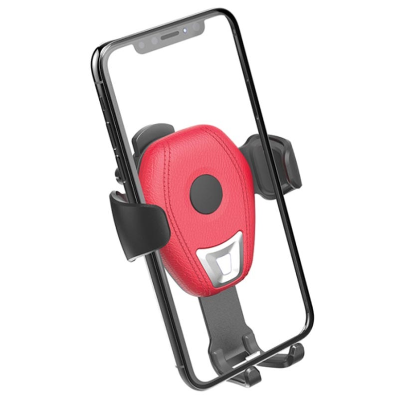 Awei CW2 Gravity Air Vent Car Holder / Qi Wireless Charger - Red