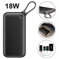 POWER BANK BASEUS 20000 MAH USB-C PD + QC3.0 - 18W - NERO