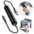 Baseus Energy 2-in-1 Lightning Cable / 2500mAh Powerbank - Black