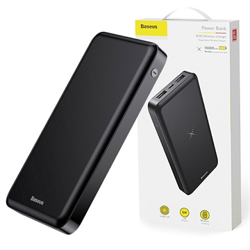 Caricabatterie Qi Wireless / Power Bank Baseus M36 - 10000mAh - Nero