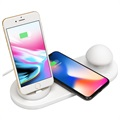 Baseus Mini Mushroom Docking Station & Qi Wireless Charger - White