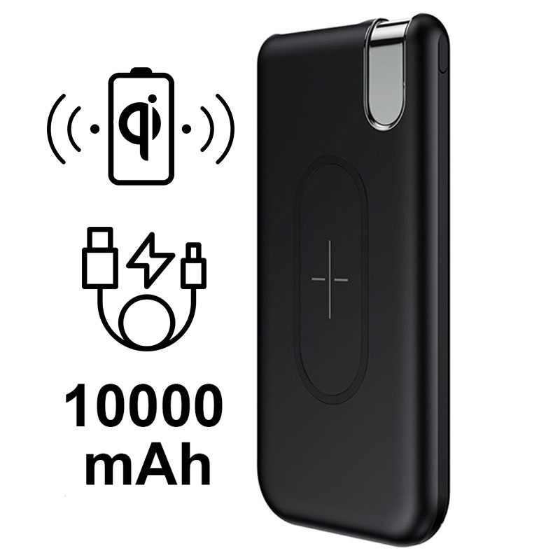 Caricabatterie Qi Wireless / Power Bank Baseus Thin Version - 10000mAh