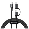 Rexus 2-in-1 USB 2.0 / USB-C and MicroUSB OTG Cable Adapter - Black
