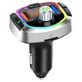 Baseus Energy Column QC3.0 Car Charger / Bluetooth FM Transmitter - Silver