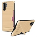 Huawei P30 Pro Brushed Hybrid Case with Card Slot - Gold