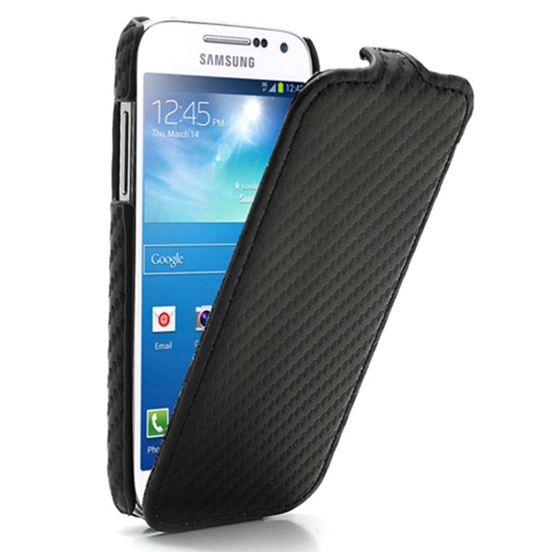 Carbon-Fiber-Flip-Leather-Case-Cover-for-Samsung-Galaxy-S-4-IV-Mini ...