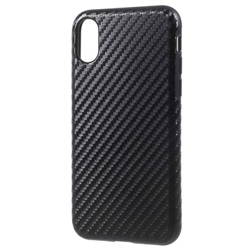 custodia iphone x in carbonio