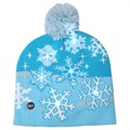 Cozy Winter Beanie Hat with LED Light - Snowflakes