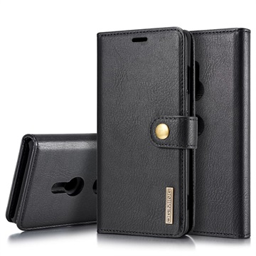 DG.Ming 2-in-1 Sony Xperia XZ3 Wallet Leather Case - Black