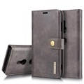 DG.Ming 2-in-1 Sony Xperia XZ3 Wallet Leather Case - Grey