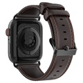 Dux Ducis Apple Watch Series 5/4/3/2/1 Leather Strap - 38mm, 40mm - Coffee