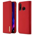 Dux Ducis Wish Huawei P30 Lite Wallet Leather Case - Red