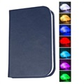 Foldable Book Lamp with Colorful LED Light - Blue