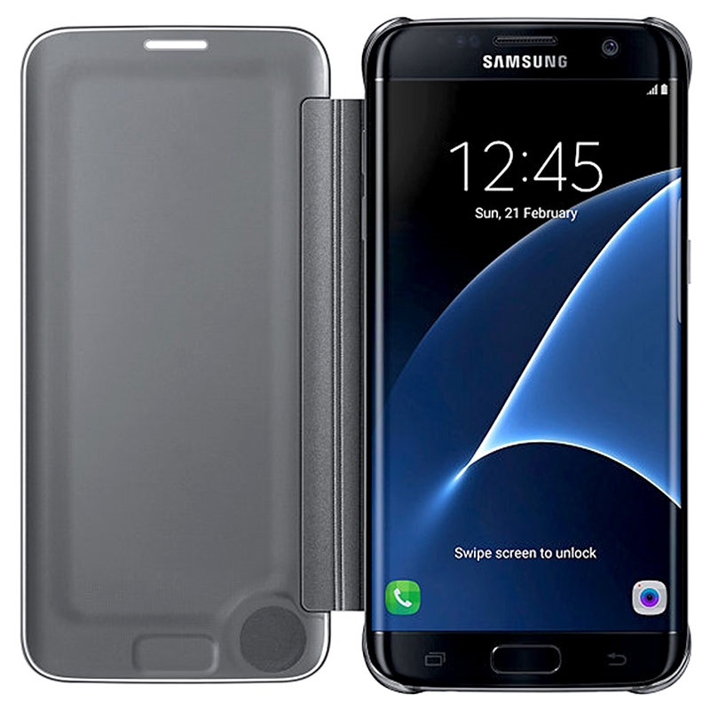cover custodia flip clear view per samsung galaxy