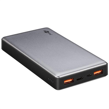 Power Bank Goobay Quick Charge - Doppia Porta USB, USB Tipo-C - 15000mAh