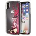 Custodia Glitter Collection Guess per iPhone X / iPhone XS - Lampone