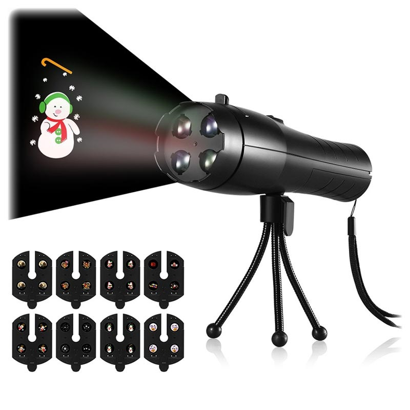 Hand-Held Festive LED Projector - 4W - Black