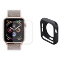 Set di Protezione Full Hat Prince per Apple Watch Series 5/4 - 44mm - Nero