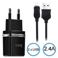 Hoco C12 2.4A Lightning Wall Charger - iPhone X/XR/XS max/6/6S/iPad Pro