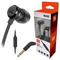 JBL T290 Pure Bass In-Ear Headphones with Microphone - Black