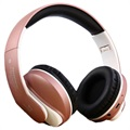 JKR 218B Foldable Over-Ear Bluetooth Stereo Headset - Rose Gold
