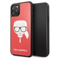 Custodia Karl Lagerfeld Double Layers Glitter per iPhone 11 Pro - Rosso