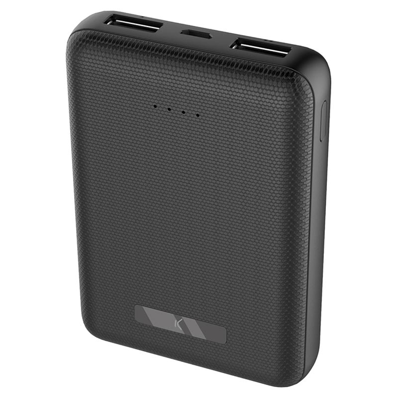 Power Bank Ksix Mini 10000mAh - 2xUSB - Nero