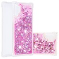 Cover in TPU Liquid Glitter Series per Samsung Galaxy Note10+ - Rosa