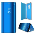 Custodia a Flip Luxury Mirror View per Samsung Galaxy S9+ - Blu