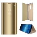 Custodia a Flip Luxury Mirror View per Samsung Galaxy S9+ - Color Oro