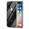 Cover Magnetica con Retro in Vetro Temperato per iPhone X - Grigia