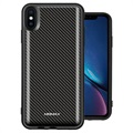 Momax Q.Power Pack iPhone XS Max Wireless Battery Case - Carbon Fiber