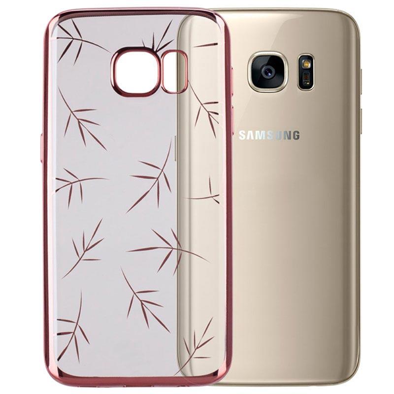 galaxy s7 custodia portafoglio oro rosa