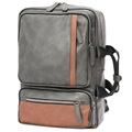 "Multifunctional Carry-On Travel Backpack 14"" - Grey / Brown"