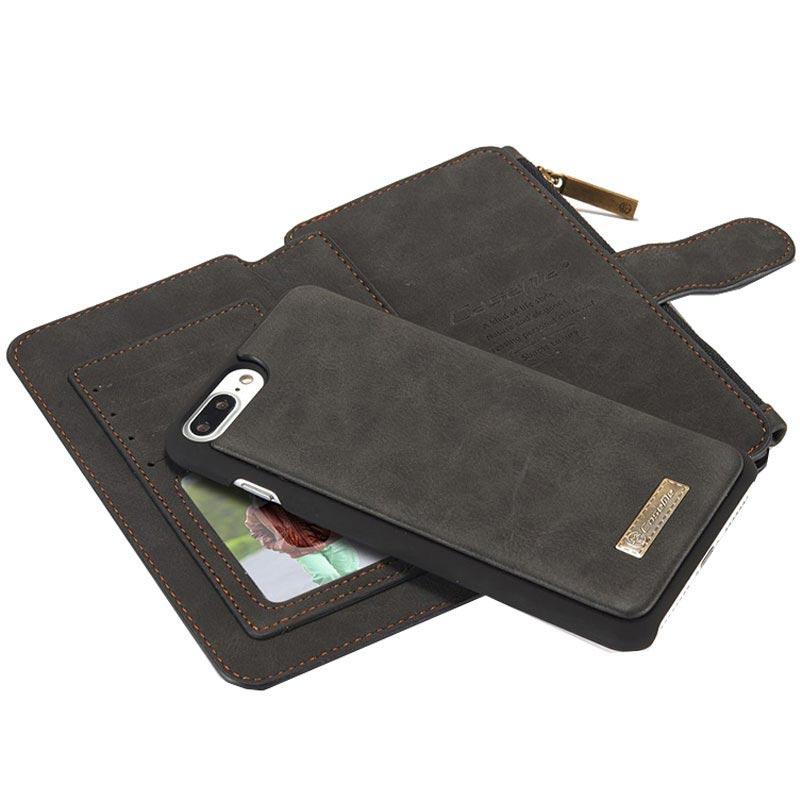 Custodia a Portafoglio in Pelle Multifunzione per iPhone 7 Plus Caseme