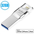 Unità Flash MFI Lightning / USB 3.0 Netac U651 - 32GB