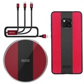 Cover Huawei Mate 20 Pro / Caricabatteria Wireless / Cavo 3-in-1 Nillkin Fancy - Rosso