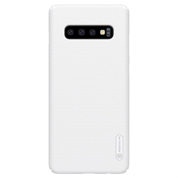 Cover Nillkin Super Frosted Shield per Samsung Galaxy S10 - Bianca